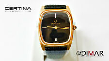 RELOJ CABALLERO CERTINA MOV.PSEUX.7046 BLACK DIAL  MANUAL WINDING DIAM.31X30mm