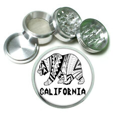 California Republic Bear D6 Aluminum Herb Grinder 63mm 4 Piece Hand Mueller Cali