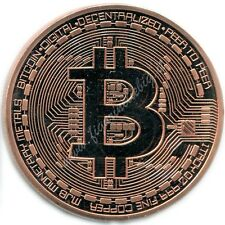 Moneta Fisica Bitcoin (BTC) in Rame Puro 999/1000 1 OZ Copper CASASCIUS 2013