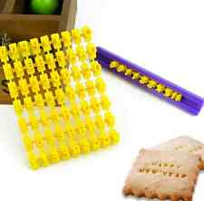 Alphabet Letter Number Biscuit Cookie Cutter Press Stamp Embosser Cake Mould one