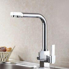 Luxury 3 Way Kitchen Sink Faucet Mixer Tap with Pure Drinking Water Spout Supply