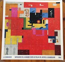 LE CORBUSIER,'TAPISSERIE DE LA GRANDE COUR AU PALAIS..1954' RARE 1987 ART PRINT