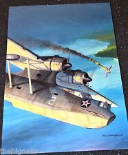 WWII Aircraft PBY-4 Catalina Large Postcard