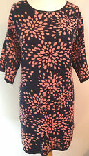 MONSOON NAVY WOOL BLEND STRETCH KNITTED JUMPER DRESS SIZE 18 BNWT RSP£59.99