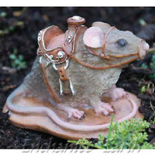 NEW FIDDLEHEAD FAIRY GARDEN-MINIATURE - MAGICAL GARDEN MOUSE WITH SADLE