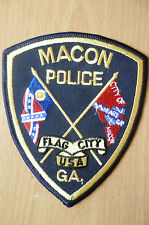 Patches: MACON FLAG CITY USA GA POLICE PATCH (NEW* apx.12x10 cm)