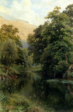 Handmade Oil Painting repro Harry Sutton Palmer Still Waters