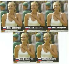 5 CARD LOT 2005 ACE MARIA SHARAPOVA RC #1 PLEASE READ NOT MINT DEBUT EDITION