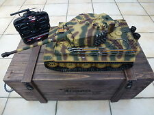 Torro 1/16 RC German Tiger 1 BB Tank 2.4GHz Metal Camo Late Edition Wooden Box