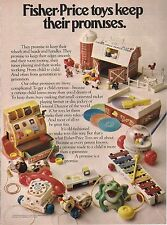 Vintage Fisher Price Keeps Their Promises Toy Ad 1979