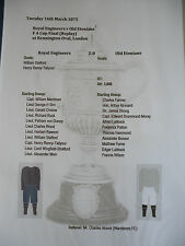 1875 FA Cup Final Replay Royal Engineers v Old Etonians matchsheet