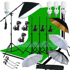 Photog Studio Softbox Backdrop Umbrella Boom Arm Continuous Lighting Stand Kit