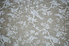 Botanica Bird furnishing fabric by John Lewis, 100% Linen, white, by the metre