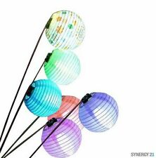 Synergy21 - LED Party Lights - Set of 6 - Lanterns on sticks - Ideal Night Light