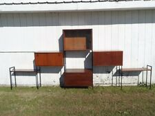 Mid Century 5 Bay Teak 1960s Modular Wall Unit, Cabinets, Office Storage