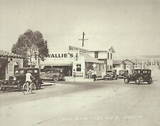 NEWPORT BEACH Balboa Island Wallie's Marine St VINTAGE Photo Print 1479 11 x 14