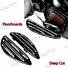 1Pair Front Driver Deep Cut Floorboards For Harley Touring Street Road Glide