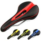 Hot Unisex Mens BMX MTB Mountain Road Leather Bike Seat Cycling Bicycle Saddle