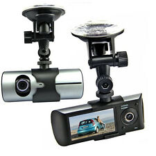 "2.7"" HD Dash-Cam Dual Camera Front+Driving Recorder Car DVR GPS Logger G-Sensor"