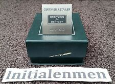 BREITLING for BENTLEY CERTIFIED RETAILER 2011 - 2012 in BOX plate used RARE item