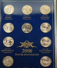 2006 P & D United States Quarter Collection Brilliant Uncirculated 10 Coins