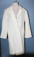 Dumas Women's LONG Wool Coat Size 10 OFF WHITE, CREAM MADE IN USA