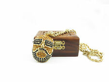 Hip Hop Iced Out Crystal Rick Ross Pendant/Necklace! Halloween Fancy Dress!