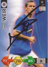 RANGERS DAVID WEIR SIGNED CHAMPIONS LEAGUE SUPER STRIKES CARD+COA *SALE*
