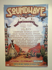 SOUNDWAVE 2013 BRISBANE Promo Poster A2 METALLICA BLINK 182 LINKIN PARK *NEW*