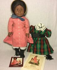 """18"""" Vintage 90s Pleasant Company American Girl Addy Doll Meet Outfit Plaid Dress"""