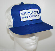 Vintage Keystone Gun Krete Co. Trucker Adjustable Snapback One Size Fits All Cap