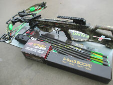 NEW 2017 PSE Fang XT Camo Crossbow w/ UPGRADED Scope & Hand Crank Loader 350 fps