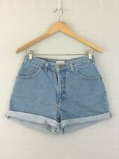 G15 Women's High Waist Denim Jean Shorts Cuffed Rolled Hem 10 Large Vintage