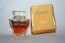 VINTAGE MINI LANCOME POEME PARFUM WITH BOX FULL .14 FL OZ 4 ML