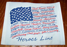 """Lot 5 NEW Premium Woven Labels HEROES LINE Sew on Fashion Patches 5 X 4"""""""