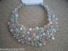 ALDO MULTI COLOR  STATEMENT BIB COLLAR NECKLACE