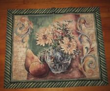 Tuscan Summer - Vase Of Flowers Tapestry Fabric Wall Hanging