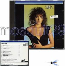 "SABRINA SALERNO ""SABRINA"" RARO CD GERMANY 1987"