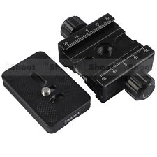 Two-faced Clamp+Plate for ARCA-SWISS Camera Tripod Ball Head Quick Release Plate