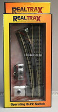MTH REALTRAX 072 LEFT HAND TRACK SWITCH o gauge train operating turn 40-1021 NEW