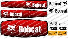BOBCAT 428 MINI PELLE DECAL SET