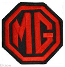 MG - RED/BLACK LOGO EMBROIDERED PATCH 7.5cm x 7.5cm