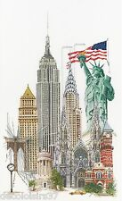 THEA GOUVERNEUR  471A  New York  Aïda  Kit  Broderie  Point de Croix  Compté