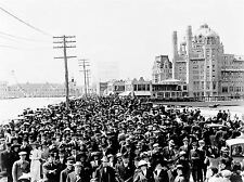 VINTAGE PHOTOGRAPHY BLENHEIM HOTEL ATLANTIC CITY USA CROWD POSTER PRINT LV4873
