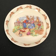 Royal Doulton - Bunnykins - Saucer ONLY - ONE - 1 - Watering Garden - England BV
