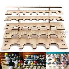 New Wooden Storage Rack For 28 Acrylic Tamiya Paint Mr Hobby Brush Color Plate