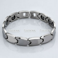 Mens Energy Stainless Steel Magnetic Therapy Bracelet Health Wrist Band Jewelry