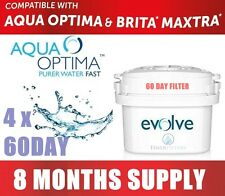 4 x Aqua Optima Evolve 60 Day Filter For Brita Maxtra/Aqua Optima 8 Months Worth