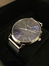 Mens Paul Smith Ma Watch Silver And Blue One Size BNWOT