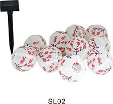 Solar Outdoor Garden 10 Mini Cherry Blossom String Lanterns Yard LED Light Lamp